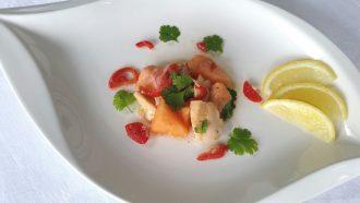 Ceviche sinnliches Fischgericht