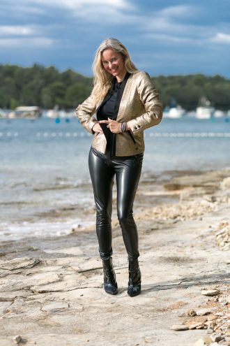 Black leather pants from Arcanum