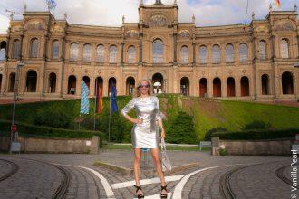 silver vinyl dress in munich