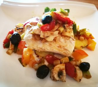 Haddock with vegetables