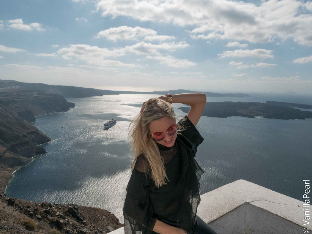 Christina in Santorini