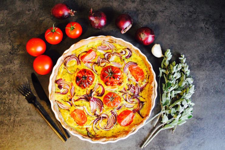 Tomaten-Zwiebel-Quiche