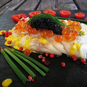 Kabeljau mit Kaviar made by Christina
