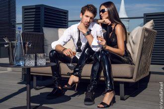 Glänzende Mode für Männer