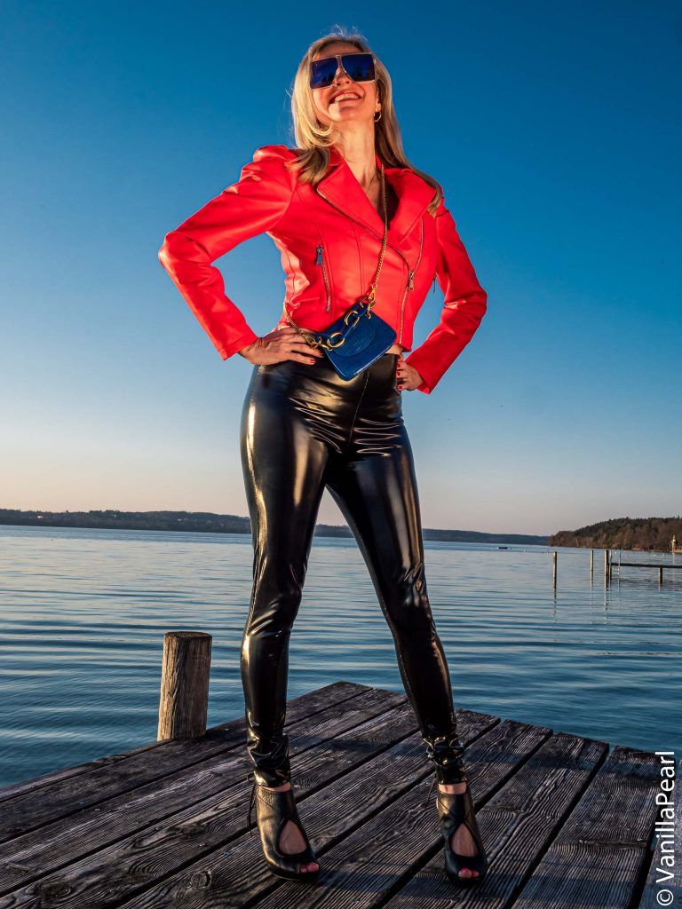 Red leather jacket from Arcanum