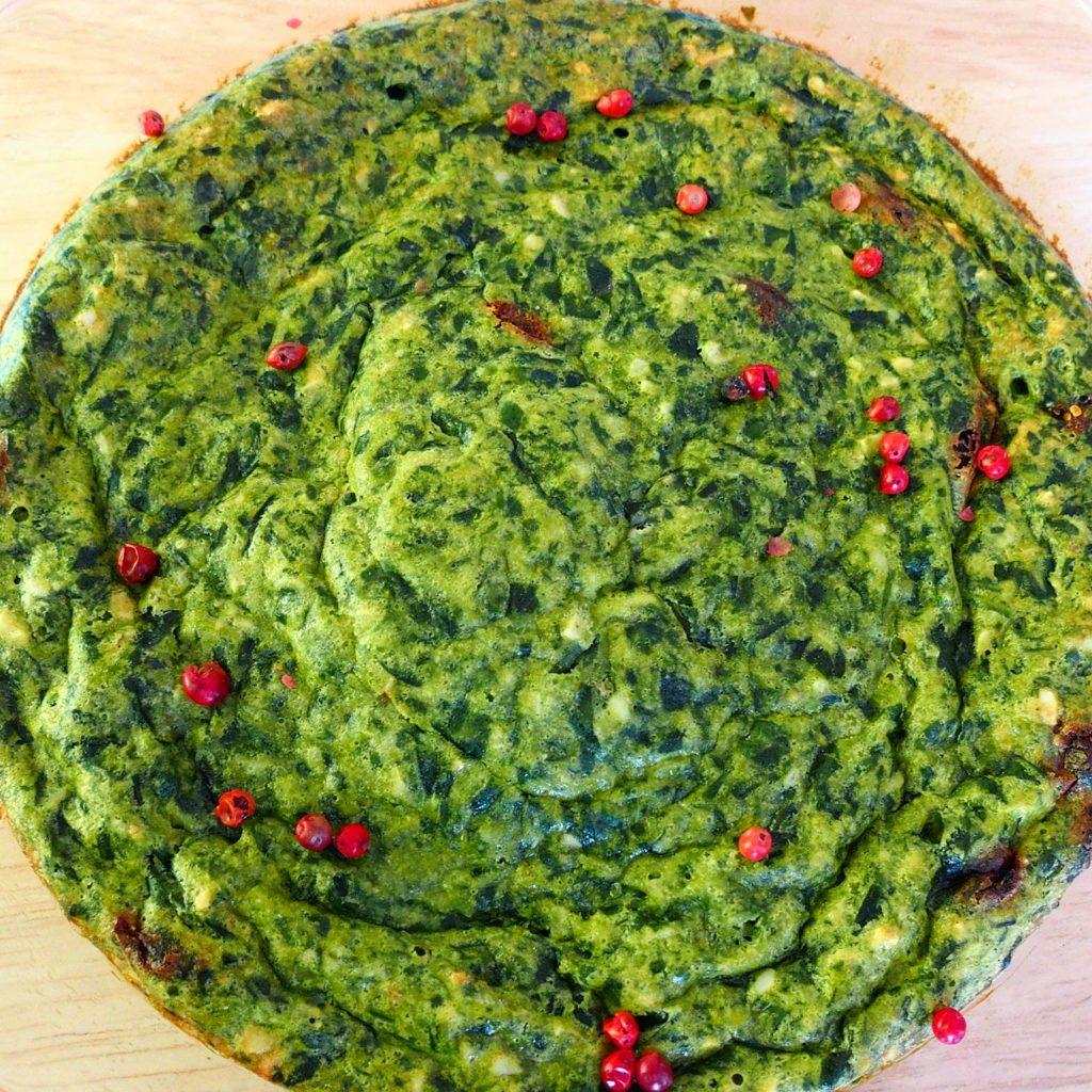 Spinat-Frittata sind gebackene Gemüsepralinen aus Spinat.